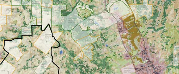 GIS technology is used to map ecological conditions throughout the watershed